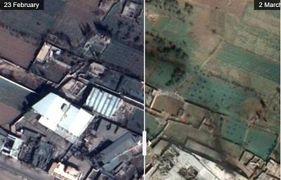 Satellite images show destruction in Eastern Ghouta